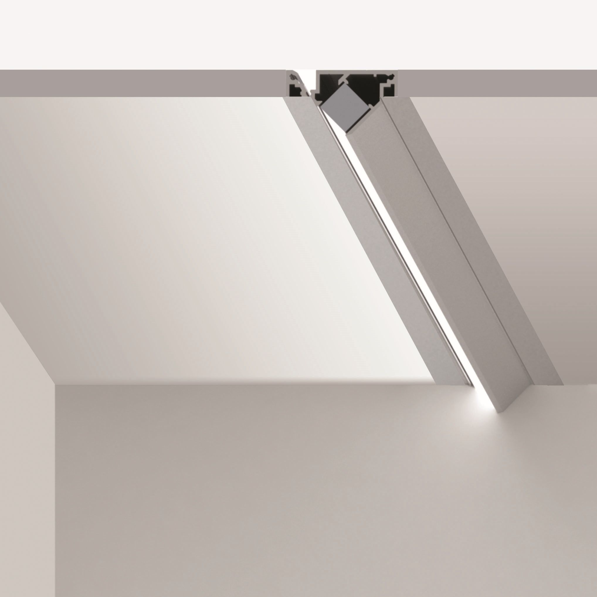 20 Linear Wall Wash Semi-Recessed - Regressed Bezel Trim